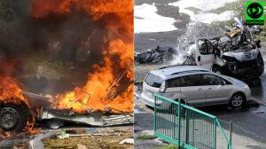Wybuch auta dostawczego na Bemowie. Dwie osoby nie żyją, dwie ciężko ranne