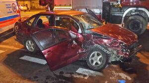 Cztery osoby w szpitalu po zderzeniu na Modlińskiej