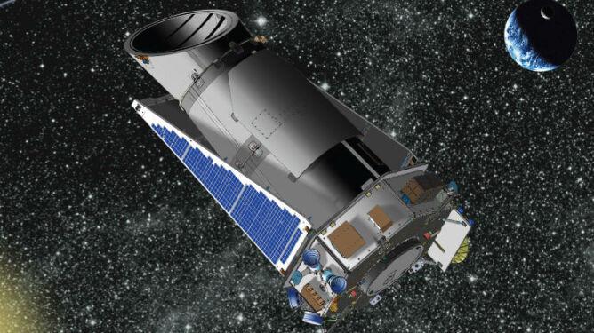 Teleskop Keplera w trybie nieaktywnym