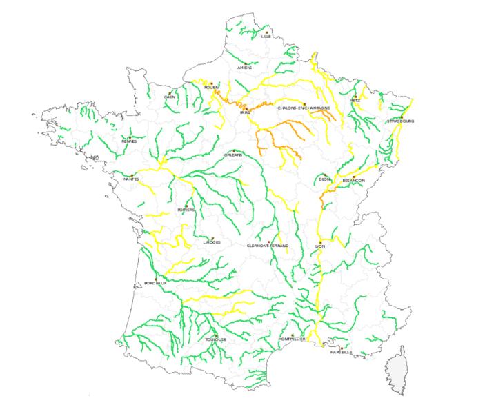 Zagrożenie powodziowe we Francji