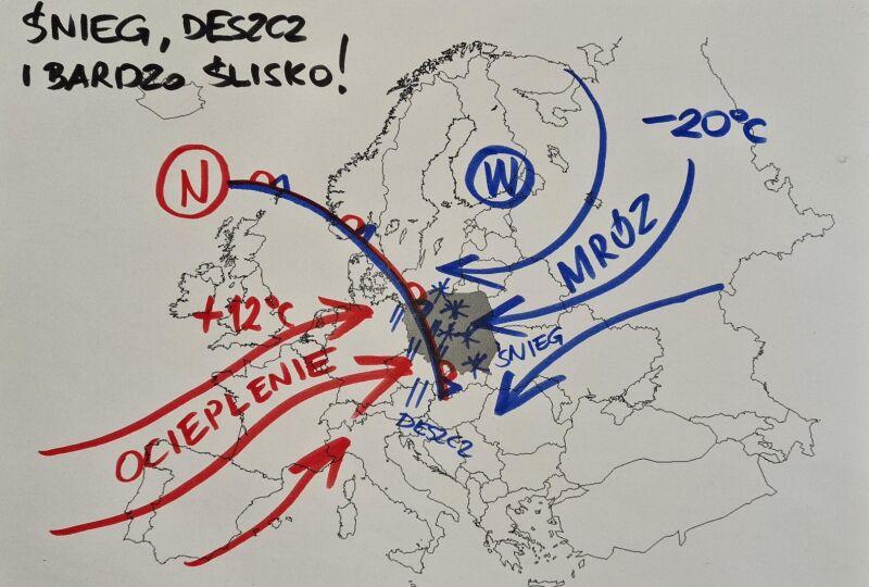 Sytuacja pogodowa w środę na Polską