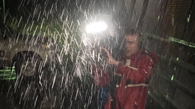 Atak deszczu na norweską wyspę