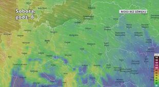 Prognozowane porywy wiatru kolejnych dniach (Ventusky.com)