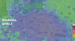 Prognozowane porywy wiatru w ciągu najbliższych dni (Ventusky.com | wideo bez dźwięku))